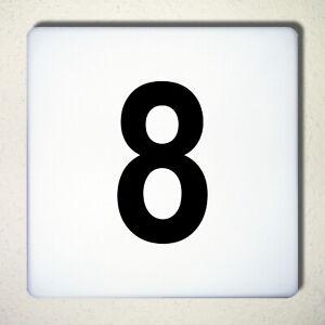 Ziffer Nr 8 schwarz 12cm Zahl Hausnummer Haus Nummer Aufkleber Tattoo Deko Folie