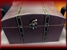 Treasure Box - Wooden Chest Small Trunk, vintage look