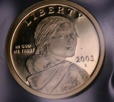 2003 S NATIVE AMERICAN GOLD  DOLLAR PROOF