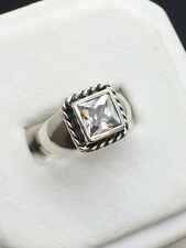 Silpada Elizabeth Sterling Silver CZ Square Cubic Zirconia Ring Size 6 R0836