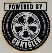 VINTAGE 1960'S WATER DECAL POWER BY CHRYSLER HOT ROD GASSER HEMI MOPAR RAT NHRA
