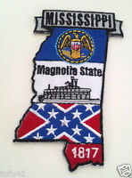 *** MISSISSIPPI STATE MAP *** Biker Patch PM6725 EE