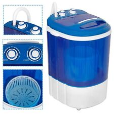 Mini Portable Washing Machine Top Load Washer W/ Double Knobs Timer Control