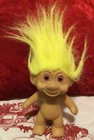 Vintage 1991 TNT Yellow Haired Pink Eyed Troll Doll