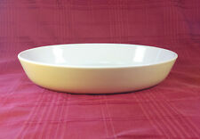 """Glazed Yellow Stoneware Oval Baking Casserole Dish 13"""" x 9"""" Made in France 22006"""