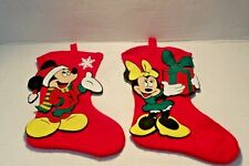 """18"""" Mickey and Minnie Mouse Hanging Christmas Stocking"""