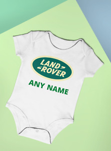 Land Rover Personalised Baby Vest Bodysuit Babygrow Fun Baby Gift Idea Any Name