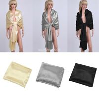 Women Bridal Satin Wrap Shawl Shrug Wedding Party Evening Stole Scarves Scarf