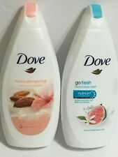 Mixed Lot of 2 ~ DOVE Purely Pampering and DOVE Go Fresh Restore Body Wash