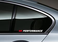 V6 Performance - Side decal r/w7 Sticker Vinyl Racing Stripe Car emblem Window
