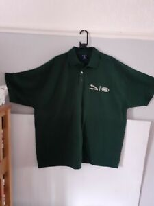 New Jaguar Landrover Polo Shirt  In Green Size 4 xl, 3 button fasterning