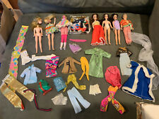 Large Lot 1970's Vintage Topper Dawn Dolls -Travel Case, Clothes & Accessories