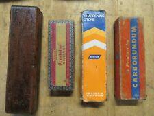 "4 Sharpening Stone Norton IB8 8""x2""-JB6 6""x2""-Carborundum 110 SIC 7""x2"" + Unkown"