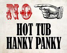 """10"""" x 8"""" non idromassaggio Hanky Panky idromassaggio piscina placca di metallo tin sign 035"""