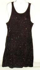 A.B.S. Evening Allen Schwartz Womens Black Shimmer Stretchy Acetate Dress Sz L