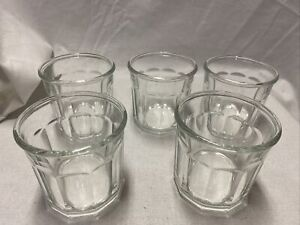 5 LUMINARC 500 Emboss Working Tumbler Rocks Clear Glass 10 Panel Old Fashioned