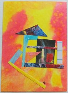 """""""A Way In"""" Original Collage Pop Surrealism Mixed Media Abstract Fine Art ACEO"""
