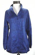 ADIDAS Tokyo Running Jacket Blue Geometric Windbreaker BR5607 Women's M $120 New