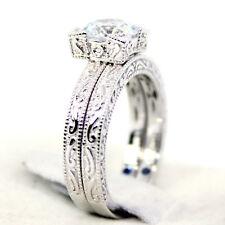 VANNA K ENGAGEMENT SET*  Bella Luce CubicZirconia Platineve Rings Size 10 NEW!
