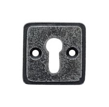 Cube Pewter Standard Escutcheon Key hole