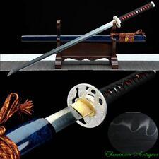 Sharp Japanese Sect Eagle Tsuba Chokutō Straight Sword Knife Steel Blade #5476