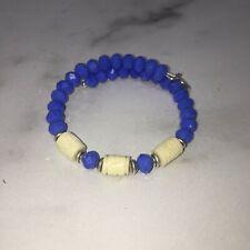 Alex and Ani Vintage Sixty-Six Blue Beaded Bracelet