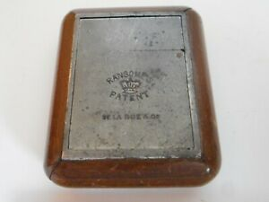 De La Rue & Co Travelling Inkwell MARKED Ransome's Patent - ANTIQUE