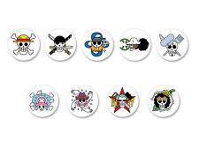 Lot Pack Badge Button Ø38mm One Piece Skull Logo Manga Japan Shōnen