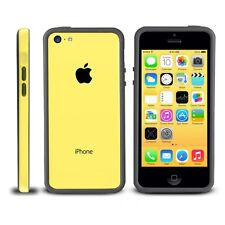 Black Yellow Soft TPU Protector Bumper Frame Snap Case Cover for Apple iPhone 5C
