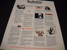 Frank Zappa Black Sabbath Captain Beefheart others Rare 1970 Promo Display Ad