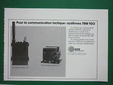 6/85 PUB EAS AEROSPATIALE EMETTEUR RECEPTEUR TRM 920 VHF UHF FRENCH AD