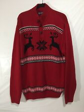 Men's Chaps sweater Red W/Deer Ugly Christmas Sweater Sz XL Winter Party