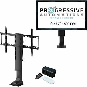 Progressive Automations Pop Up Electric Motorized TV Lift with Remote Control