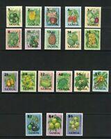 SAM47) Samoa 1983 - 1984 Fruit I, II & III MUH