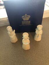 3 Vintage Royal Copenhagen White Porcelain Angel Musician Figurines