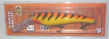 "9"" Ernie Musky Mania Pike Muskie Crankbait Orange Tiger ED-24 Drifter Tackle"