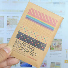 2015 Washi Scrapbook Basic Masking Tape Craft Stickers Pack Decorative Labelling