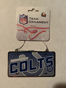 Indianapolis Colts NFL Metal License Plate Christmas Ornament