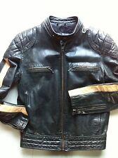 Mens Heeli Real Leather Jacket XS -(Chest 42) Bomber/Motorcycle/Biker