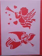 1338 Schablonen Engel Wandtattoos Vintage- Look Stanzschablonen Shabby Stencil