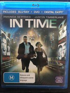 IN TIME BLU RAY+DVD+Digital Copy JUSTIN TIMBERLAKE, AMANDA SEYFRIED Region B