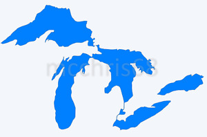 Michigan Great Lakes Vinyl Decal Window Sticker - You Pick Color & Size