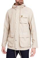 Lyle & Scott Mens Pocket Jacket Lightweight Casual Hooded Coat Light Stone