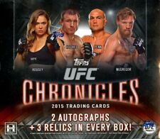 2015 Topps UFC Chronicles Hobby Box - Look For 2 Auto's + 3 Relics Per Box!
