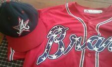 New listing Atlanta Braves Stars +Striped Baseball Hat WITH Freddie Freeman Matching Jersey