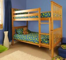 Wooden Bunk Bed Childrens Kids Pine White 3ft Wembdon Can Split Into 2 Singles Caramel Without Mattress