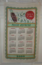 COLLECTIBLE HANGING WALL CALENDAR-2000-MILLINUM-COCA COLA-COKE-MATERIAL
