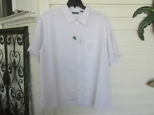 CUBAVEA White on White Jacquard Print Shirt sz 2X NWT $80.00
