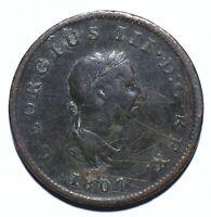 1807 UK Half 1/2 Penny - George III 4th issue - Lot 1292