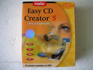 Software Roxio Easy CD Creator 5 Platinum Windows 95 98 Me 2000 Professional Ita
